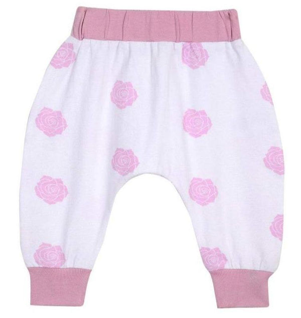 Baby Clothing - Boo Boo Harem Pants - Pink Rose