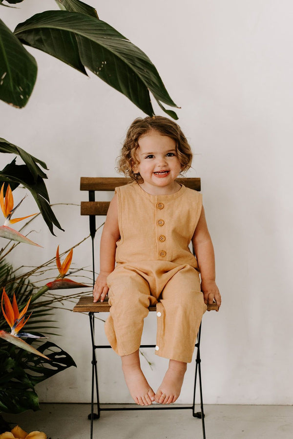 Baby Clothing - Finley Romper In Sand