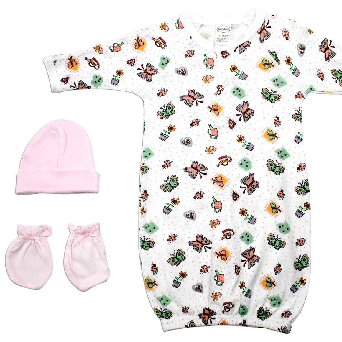 Baby Clothing - Girls 3 Piece Layette Set