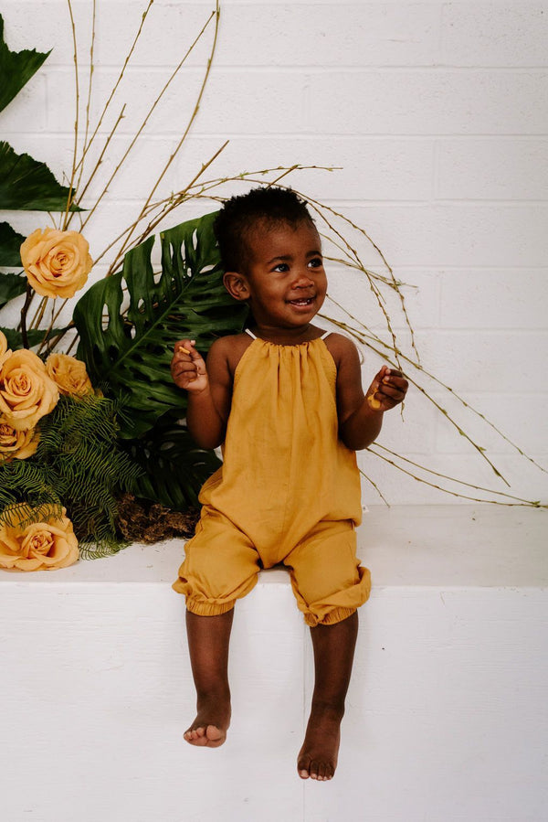 Baby Clothing - Lucy Romper In Golden Sun