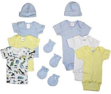 Baby Clothing - Newborn Baby Boys 10 Piece Layette Gift Set