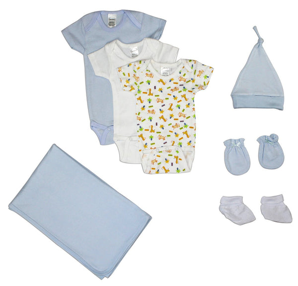 Baby Clothing - Newborn Baby Boys 7 Piece Layette Gift Set