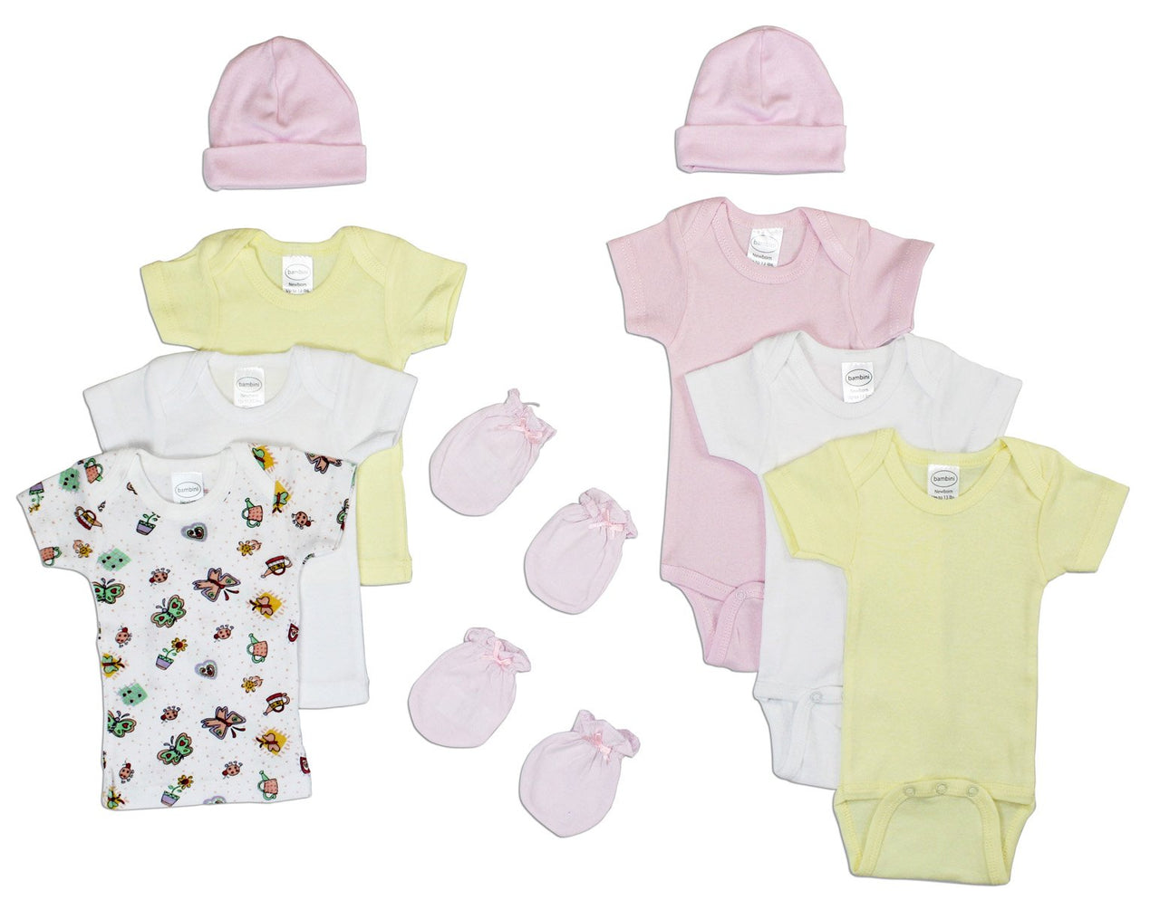 Baby Clothing - Newborn Baby Girls 10 Piece Layette Gift Set
