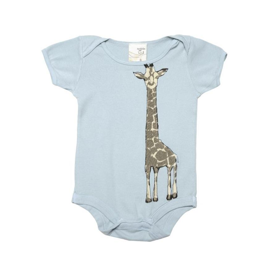 Baby Clothing - Organic Cotton Infant One Piece - Giraffe Print