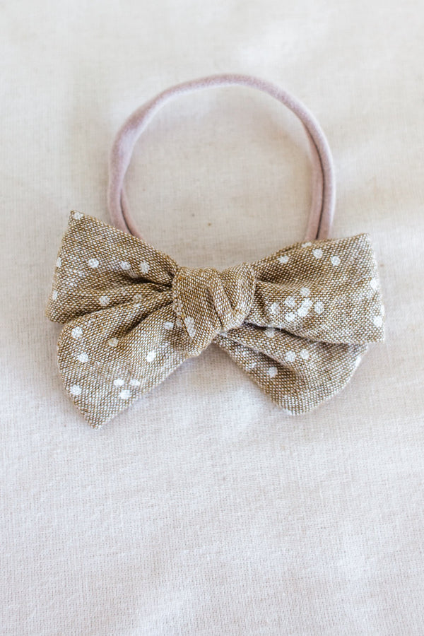 Baby Clothing - Speckle Headband Bow