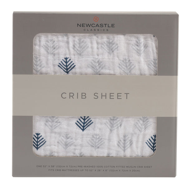Blankets & Pillows - Glacier Branch Crib Sheet