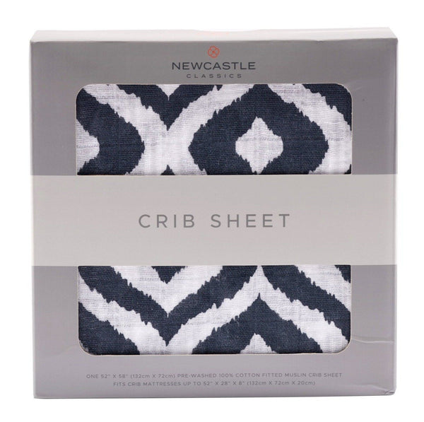 Blankets & Pillows - Moroccan Blue Crib Sheet