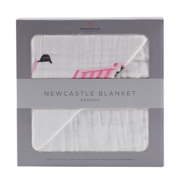 Blankets & Pillows - Pink Digger And White Newcastle Blanket