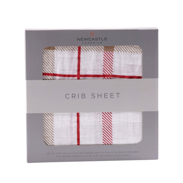 Blankets & Pillows - Plaid Crib Sheet