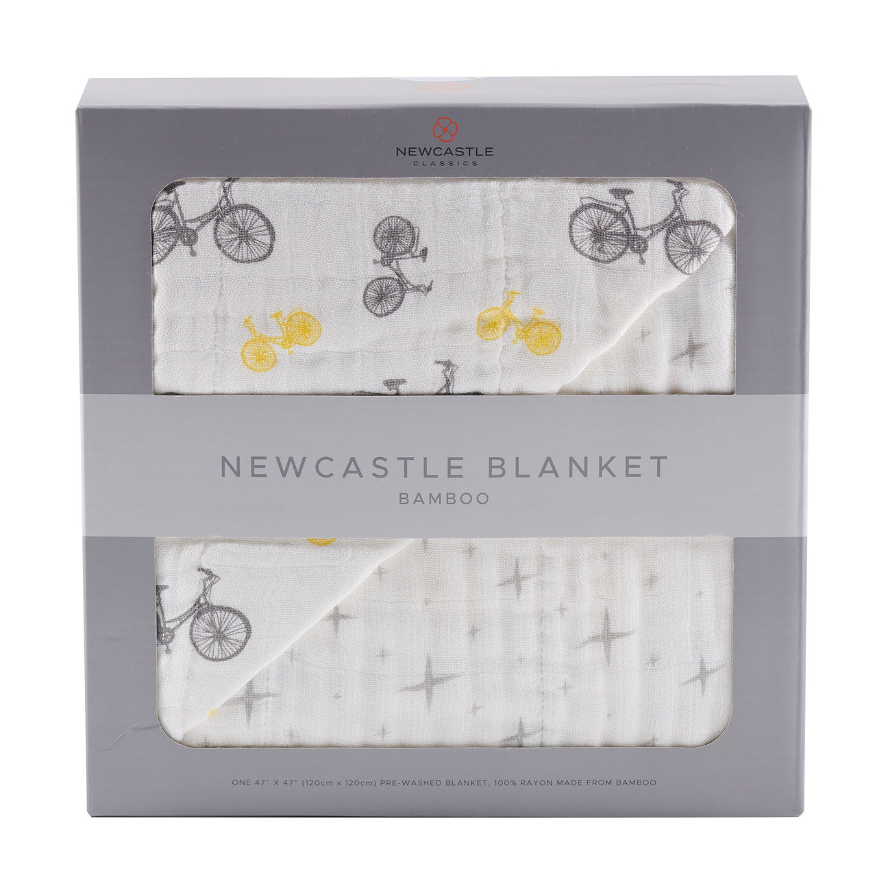 Blankets & Pillows - Vintage Bicycle And North Star Newcastle Blanket