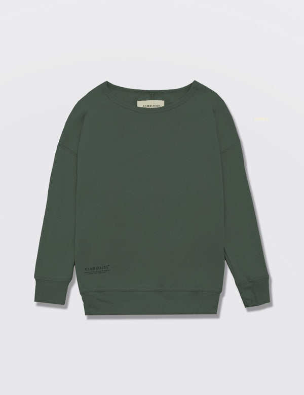 Kid's Clothing - Crewneck Warmie - Army Green