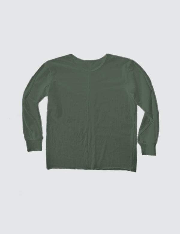 Kid's Clothing - Long Sleeve Top - Army Green