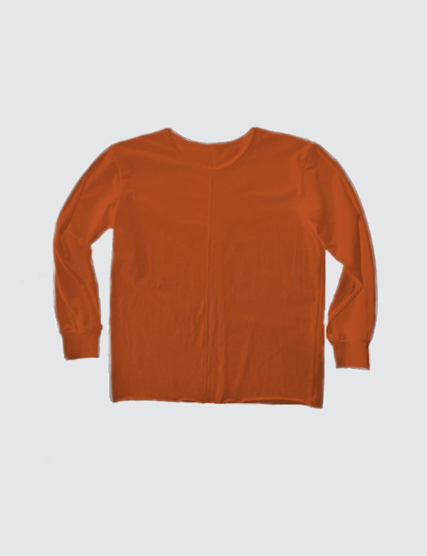 Kid's Clothing - Long Sleeve Top - Burnt Orange