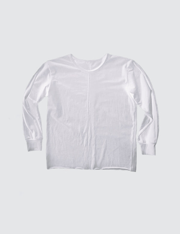 Kid's Clothing - Long Sleeve Top - White