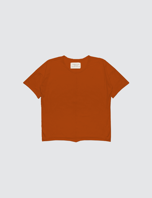 Kid's Clothing - Short Sleeve Top - Burnt Orange