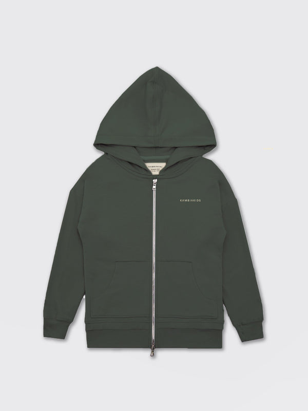 Kid's Clothing - Zip Up Warmie - Army Green