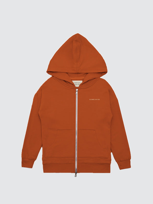 Kid's Clothing - Zip Up Warmie - Burnt Orange