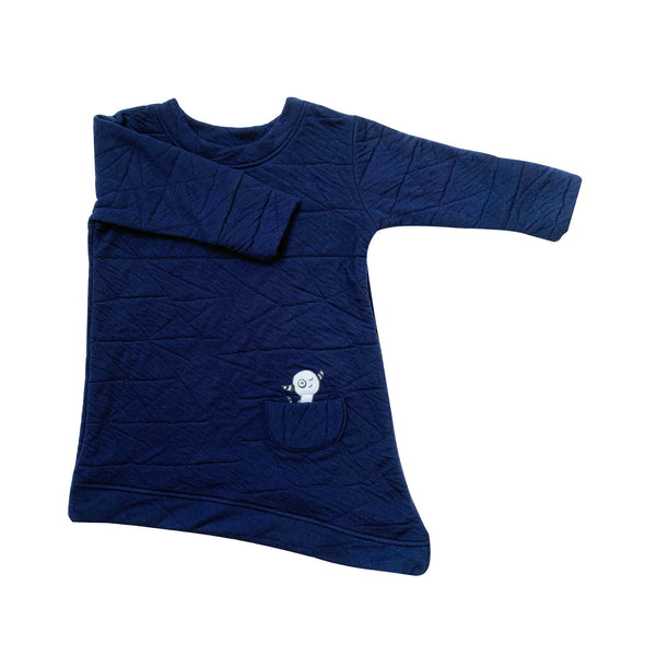 Kids & Babies - Asymmetric Dress - Quilted Deep Blue
