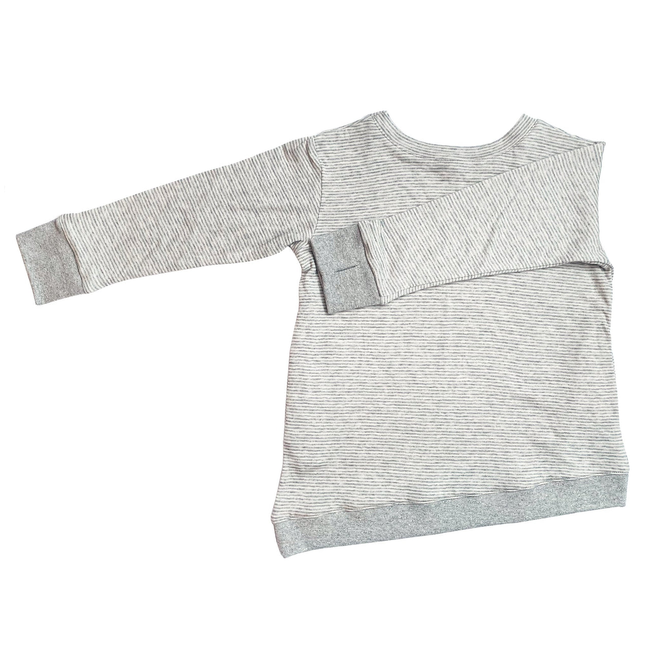 Kids & Babies - Asymmetric Pullover - Grey Skinny Stripes - Youth