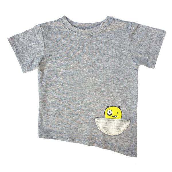 Kids & Babies - Asymmetric Tee - Grey