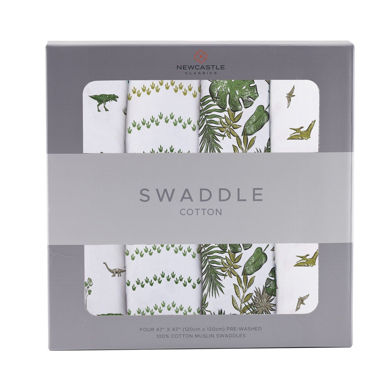 Kids & Babies - Dino Days Swaddle 4-Pack