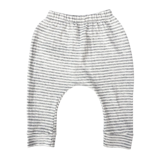 Kids & Babies - Hammer Pants - Grey Stripes | White