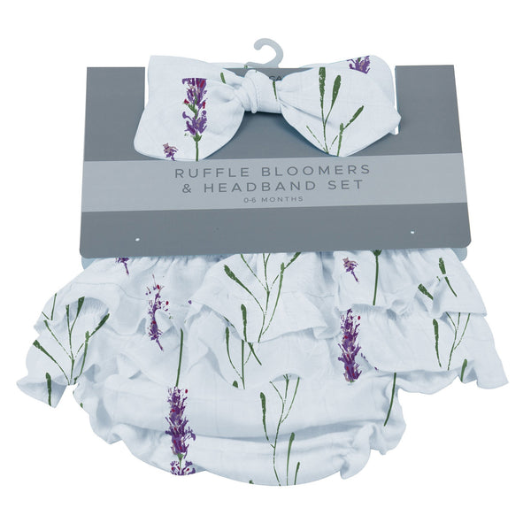 Kids & Babies - Lavender Ruffle Bloomers And Headband Set