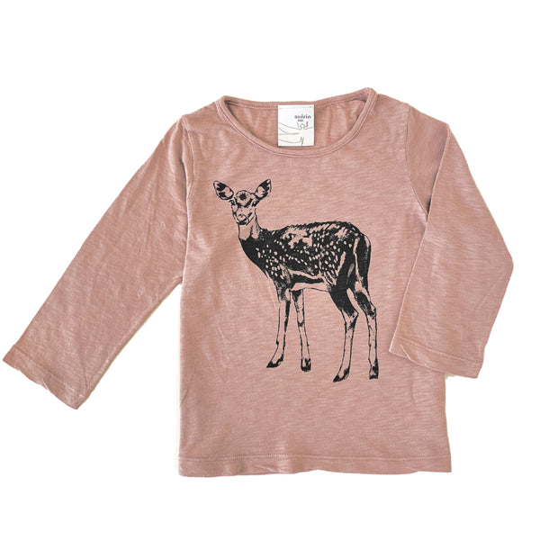 Kids & Babies - Long Sleeve Tee - Fawn Print