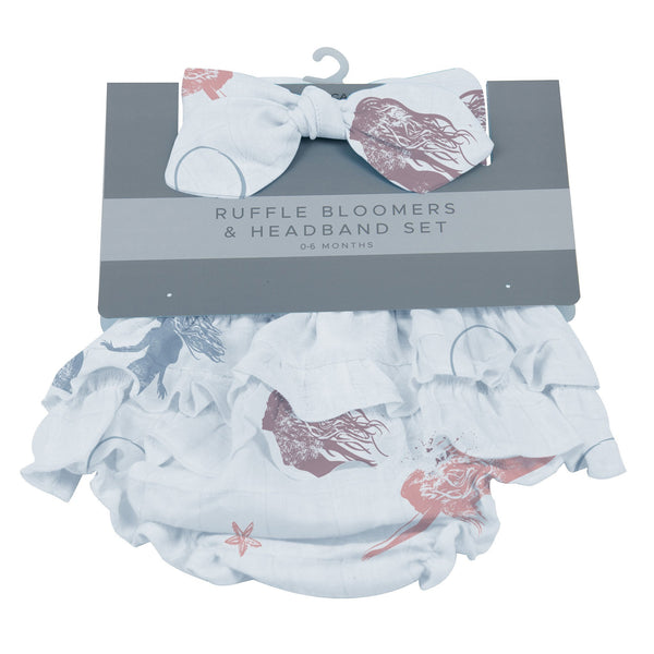 Kids & Babies - Mermaids Ruffle Bloomers And Headband Set