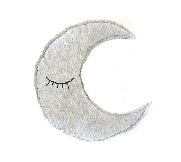 Kids & Babies - Organic Moon Shaped Pillow - Sleeping Eyes Print