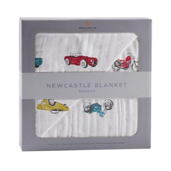 Kids & Babies - Vintage Muscle Cars And Motorcycle Newcastle Blanket