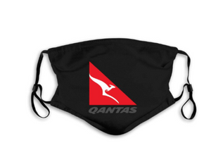 Qantas Mask with Filter Pocket and 2 Filters