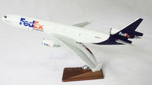 FEDEX FREIGHT AIRPLANE A380 LARGE PLANE MODEL ON STAND APX 19""