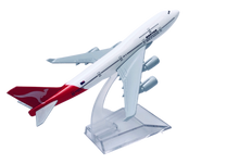 Load image into Gallery viewer, Qantas 747 Diecast Metal Plane Aircraft Models On Stand