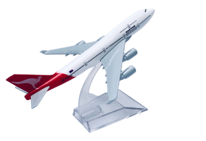 Qantas 747 Diecast Metal Plane Aircraft Models On Stand