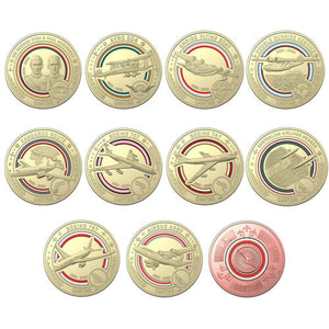 Qantas Coins Royal Australian Mint Centenary 11 Piece $1 Coin Collection