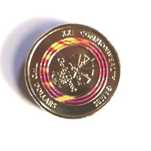 Rare Red $2 Dollar Coin Limited Edition 2018 AUS UNC 2 Dollar
