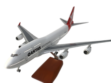 Load image into Gallery viewer, Qantas Large Plane Model Boeing Jumbo Jet ✈747 1:160 Airplane 45cm with LED