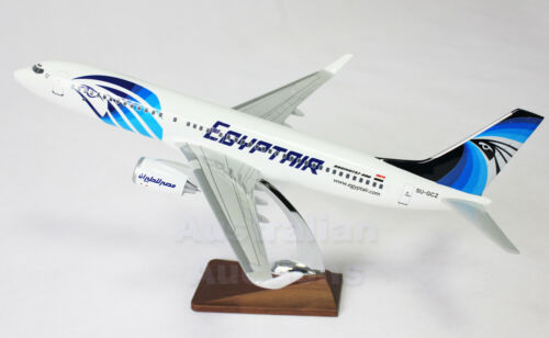 EGYPT AIR LARGE PLANE MODEL ON STAND APX 1.5' SOLID RESIN IRAQ AIRPLANE