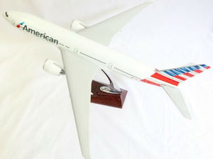 American B777 Large Plane Model Boeing B 747 1:150 Airplane Apx 47Cm Solid