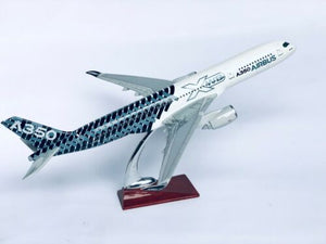 AIRBUS A350 MAX XWB LARGE PLANE MODEL ON STAND APX 1.5' RESIN PERFECT DETAILS