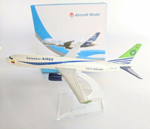 Colombia Aires Diecast Metal Plane Aircraft Models On Stand Apx 14cm