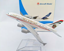 Load image into Gallery viewer, 1✈️ 14cm 1:400 Etihad A380 Airplane Aeroplane Diecast Metal Plane Toy Model
