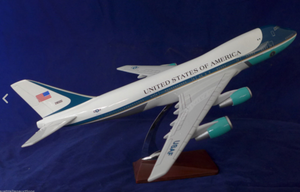UNITED STATES OF AMERICA B747 AF1 AIR FORCE ONE AIRPLANE WITH WHEELS
