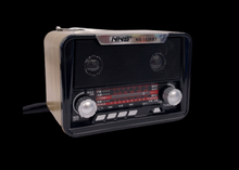 Load image into Gallery viewer, Portable Retro Radio AM FM SW + Bluetooth Speaker & TF Card Slot Rechargeable