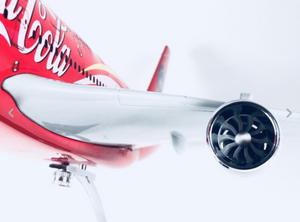 COCA COLA A380 AIRBUS LARGE PLANE MODEL ON STAND APX 1.5' SOLID RESIN AIRPLANE