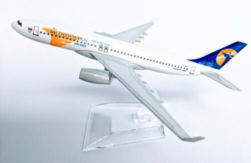 Mongolian Airlines Diecast Metal Plane Aircraft Models On Stand Apx 14 cm