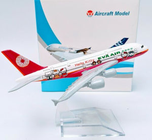 Eva Air Hello Kitty Diecast Metal Plane Aircraft Models On Stand Apx 14Cm