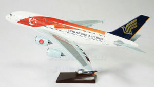 "SINGAPORE AIR A380 LARGE PLANE 50th Anniversary Special 18"" SOLID RESIN"