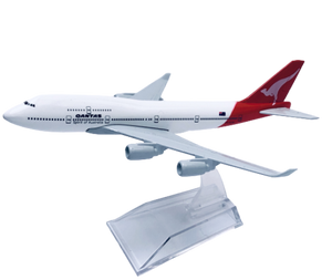 Jetstar & Qantas 747 Diecast Metal Plane Aircraft Models On Stand Aerocraft
